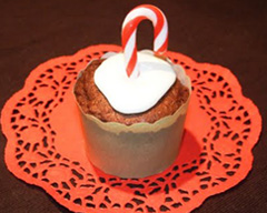 Choc-mint candy cane cupcakes