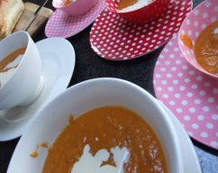 Low-fat pumpkin soup