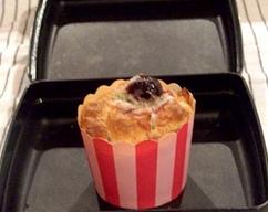 Mini cherry coconut muffins