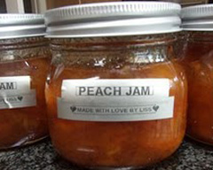 Quick and easy peach jam
