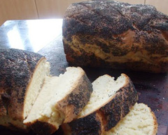 Soft poppyseed milk bread