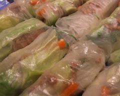 Pork rice paper rolls