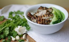 Barbecue garlic and coriander chicken