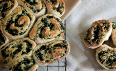Bacon, spinach and feta scrolls