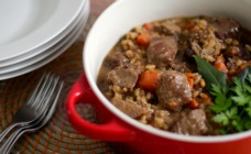 Beef, ale and barley stew