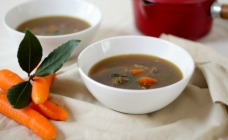 Beef and carrot soup