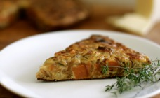 Caramelised onion and sweet potato frittata