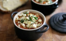Chorizo and White Beans with Feta