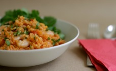 Prawn and chorizo risotto