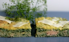 Salmon and spinach slice recipe