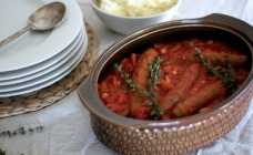 Sausage and white bean hotpot