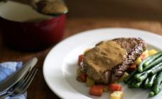 Easy steak Diane