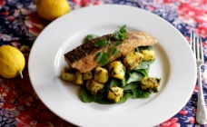 Salmon with chermoula potatoes