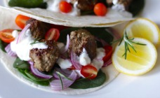 Beef and feta koftas