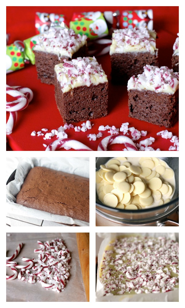 Candy cane brownies