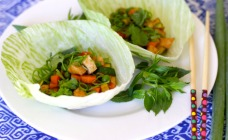 Hoisin chicken lettuce cups