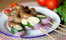 Sausage kebabs