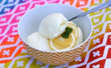2-ingredient lemon sorbet