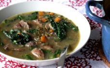 Lamb and lentil soup