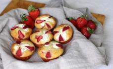 Strawberry and ricotta muffins