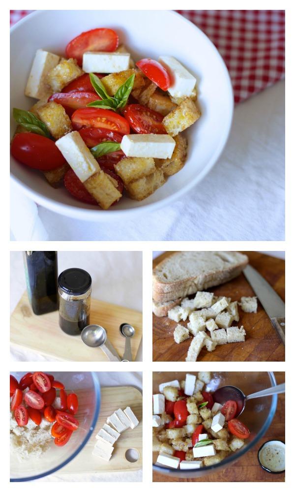 Tomato, feta nad bread salad