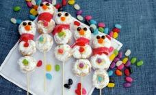 Christmas snowman doughnut sticks