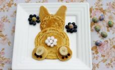 Bunny butt pancakes