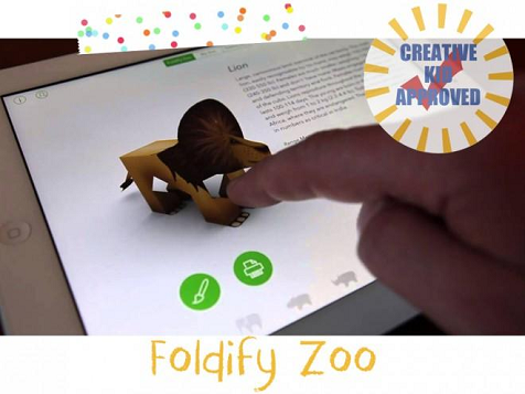 Kid approved app Foldify Zoo