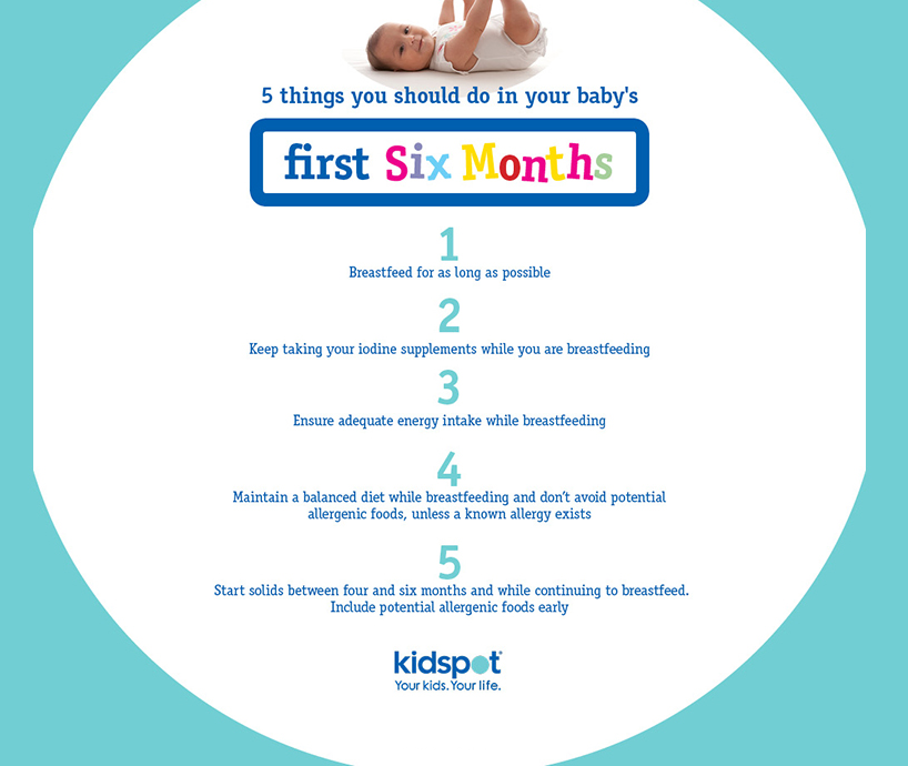 5 things to do during his first six months for baby's future health