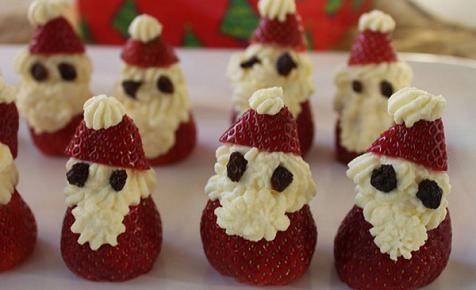 Healthy fruit Christmas treats