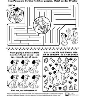 101 Dalmations Activity Sheet