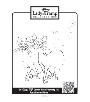 Lady and the Tramp - Connect the Dots - Cats