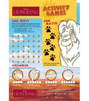 The Lion King - Activity Sheet 2