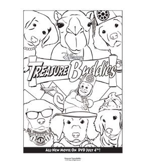 Treasure Buddies Colouring Page