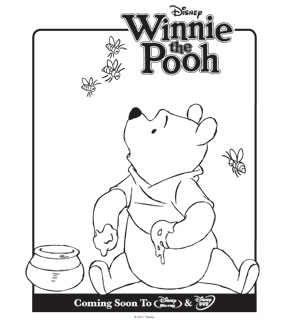 Colouring pages - Winnie the Pooh