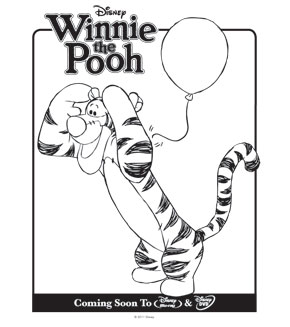 Colouring pages - Tigger
