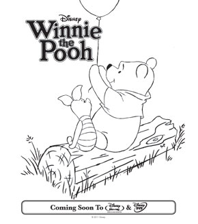 Colouring pages - Pooh and Piglet