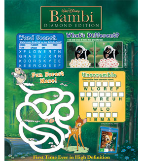 Bambi - Activity Page