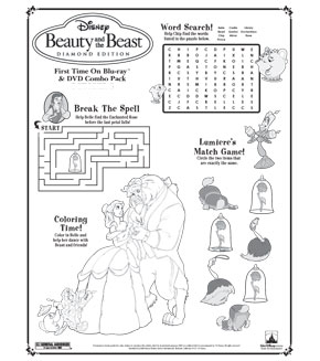 Beauty and the Beast - Activity Page