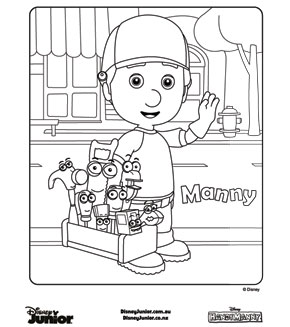 handy manny tools - Handy Manny Colouring Pages
