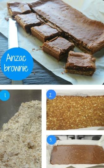 Anzac brownie