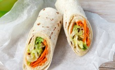 Hummus and salad wraps