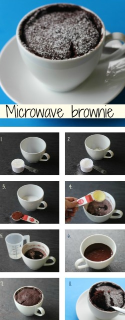 Microwave brownie