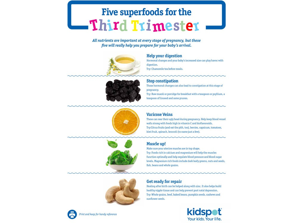 Third trimester superfoods