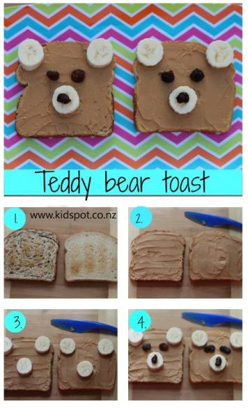 Teddy bear toast