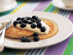Buckwheat pancakes with berries