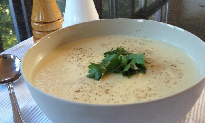 Cauliflower and potato soup