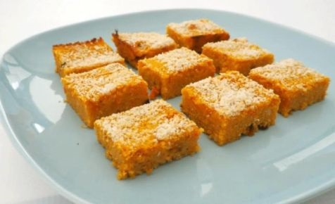 Cheese, pumpkin and couscous bites