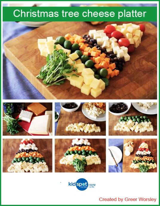 Christmas Cheese Platter.Christmas Tree Cheese Platter Recipe