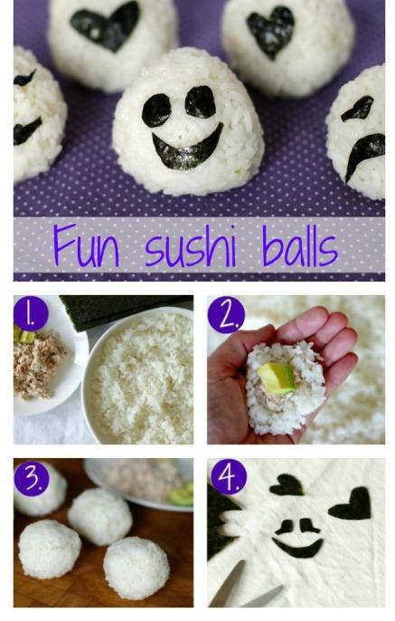 Fun sushi balls